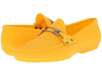 Vivienne Westwood Safety Pin Moccasin Yellow Men's Slip On Shoes
