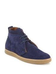 Saks Fifth Avenue Double Layer Suede Chukka Boots Royal Blue Grey