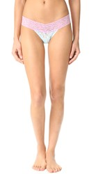 Hanky Panky Colorpay Low Rise Thong Celeste Cotton Candy