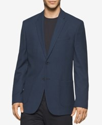 Calvin Klein Men's Hopsack Sport Coat Dress Blues