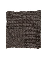 Scotch And Soda Taupe Ribbed Scarf Brown