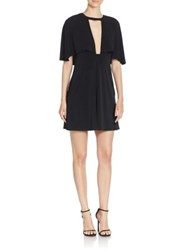 Abs By Allen Schwartz Monochromatic Cape Sleeve Dress Black