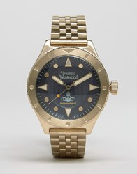 Vivienne Westwood Smithfield Stainless Steel Watch In Gold Vv160nvgd Gold