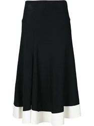 Esteban Cortazar Side Slit Circle Skirt Black