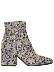 Strategia 70Mm Embroidered Satin Ankle Boots