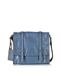 The Bridge Light Blue Leather Messenger Bag