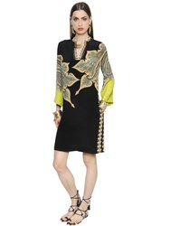 Etro Printed Crepe De Chine Tunic Dress
