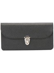 The Cambridge Satchel Company Push Lock Wallet Black