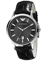 Emporio Armani Watch Men's Brown Leather Strap Ar2413