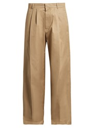 Raey Wide Leg Cotton Chino Trousers Camel