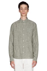 Norse Projects Anton Chambray Button Down Green