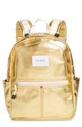 State Bags Downtown Mini Kane Metallic Backpack Metallic Gold