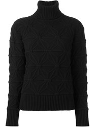 Dsquared2 Pattern Knit Turtleneck Jumper Black