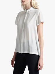 French Connection Crepe Light Short Sleeve Shirt White