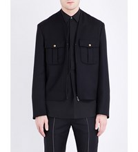 Maison Martin Margiela Collarless Wool Jacket Black
