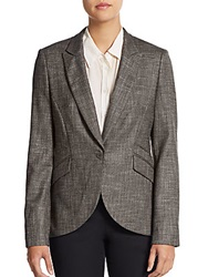 Hugo Boss Jamoni Virgin Wool Blend Blazer Grey