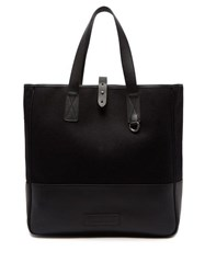 Alexander Mcqueen Felt And Leather Tote Bag Black