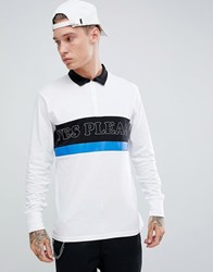 Brooklyn Supply Co. Co Rugby Polo With Yes Please Print White