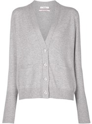 Barrie V Neck Cardigan Grey