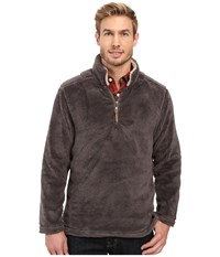 True Grit Pebble Pile 1 4 Zip Pullover Harley Black Men's Long Sleeve Pullover Brown