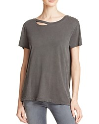 N Philanthropy Harlow Studded Cutout Cotton Tee Ghost