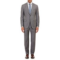 Isaia Gregory Wool Sharkskin Two Button Suit Gray