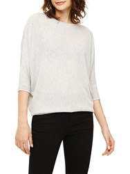 Fat Face Stitch Detail Becca Knit Silver Marl