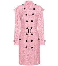 Burberry Stanhill Lace Coat Pink