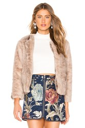 Bb Dakota Jack By Fast And Furious Faux Fur Jacket Brown