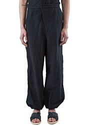 Aganovich Wide Pleated Balloon Pants Black