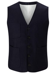 John Lewis And Co. Collarless Waistcoat Navy
