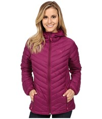 Mountain Hardwear Micro Ratio Hooded Down Jacket Dark Raspberry Women's Jacket Red