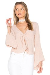 Flynn Skye Knot Your Business Top Beige