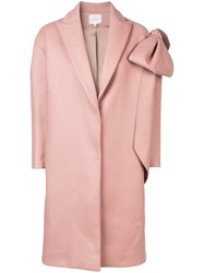 Delpozo Classic Single Breasted Coat Pink And Purple