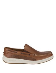 Sperry Gamefish Leather Boat Shoes Dark Tan