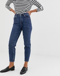 Selected Femme Mom Jeans Navy