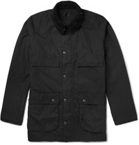 Orslow Riders Corduroy Trimmed Waxed Cotton Jacket Black