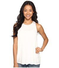 Rvca Label Tunic Tank Top Vintage White Women's Sleeveless Beige