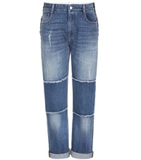 Stella Mccartney Straight Leg Patch Jeans Blue