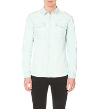 Allsaints Dega Denim Shirt Indigo Blue
