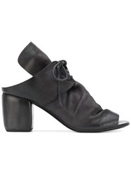 Marsell Laced Open Toe Sandals Black