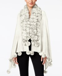 Alfani Faux Fur Trim Poncho Only At Macy's Cloud