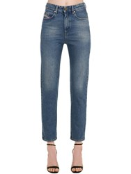 Diesel Eiselle High Waist Cotton Denim Jeans Light Blue