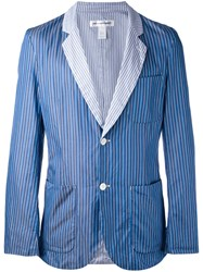 Comme Des Garcons Shirt Striped Blazer Men Cotton L Blue
