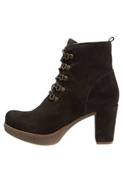 Unisa Karzo Laceup Boots Coffee Brown