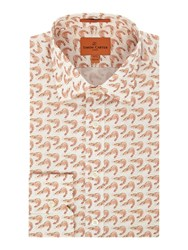 Simon Carter Men's Shrimp Print Jagger Shirt Pink