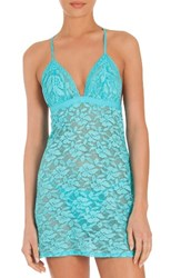 In Bloom By Jonquil Women's City Girl Chemise And Thong Turq