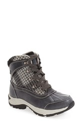 Kodiak Women's 'Rochelle' Waterproof Insulated Winter Boot Black Plaid Leather