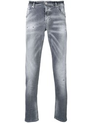 Dondup Faded Straight Leg Jeans Grey