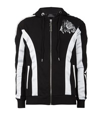 Philipp Plein Embroidered Tiger Back Hoodie Male Black